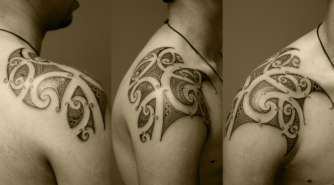 I found this site http://otautahitattoo.com/gallery/maori-pacific-tattoos to 